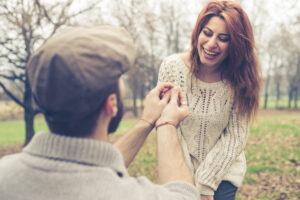 engagement ring proposal Goodman's Jewelers